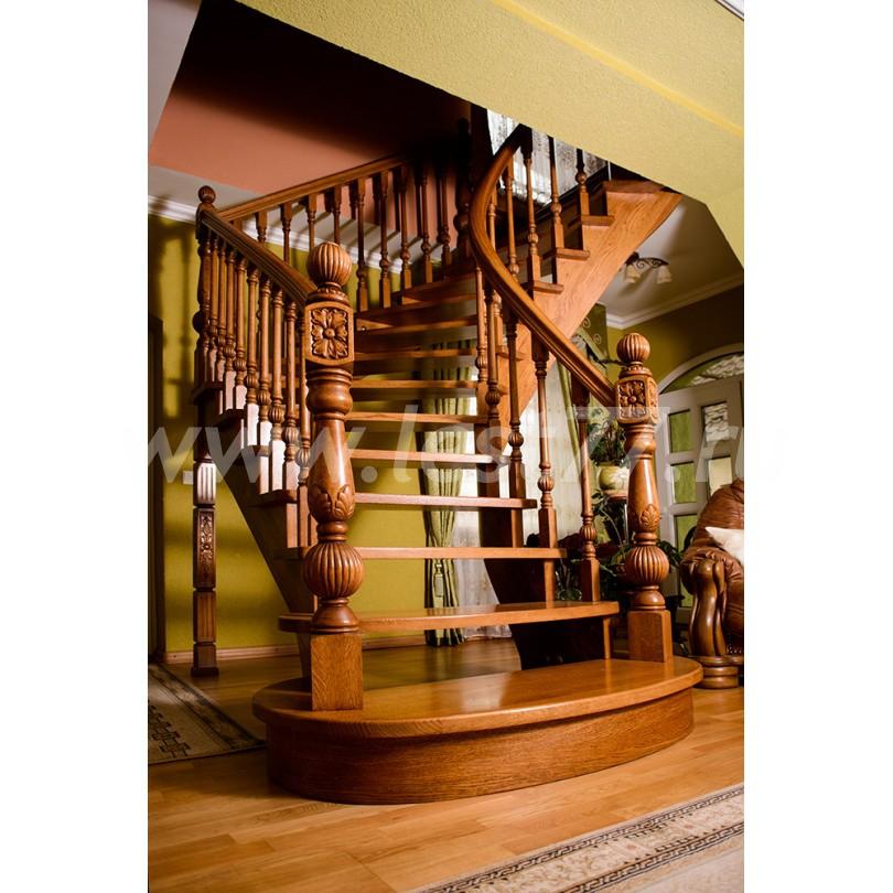Изготовление деревянной г-образной лестницы